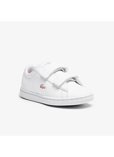 Lacoste Unisex Çocuk Carnaby Evo Sneakers 741SUI0002.1Y9 Beyaz